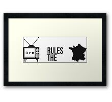 Television Rules The Nation (France) (Light Background) Framed Print