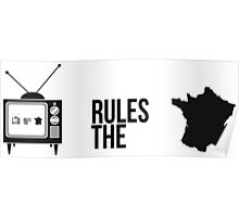 Television Rules The Nation (France) (Light Background) Poster