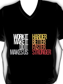 Harder Better Faster Stronger (Dark Background) T-Shirt