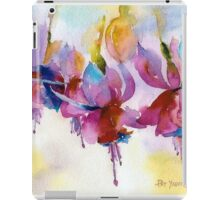 Fuchsia Watercolor II iPad Case/Skin