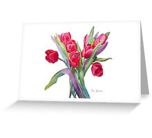 Springtime Red Tulips! Greeting Card