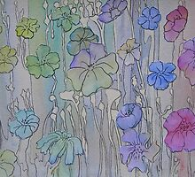 Floral Watercolour Collage 2 by Heather Holland by Heatherian