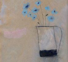corn flowers by Tine  Wiggens
