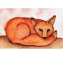 Fox in Watercolor Photographic Print