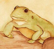 Frog in Watercolor by Katrina Larock
