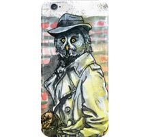 Noir Owl Detective iPhone Case/Skin