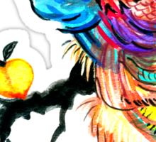 Peacock in a Peach Tree  Sticker