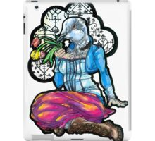 Collared Dove Holding a Handful of Wilted Tulips iPad Case/Skin