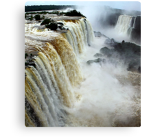 Devil's Throat at Iguassu Falls, Brazil & Argentina.  Canvas Print