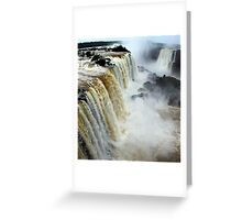 Devil's Throat at Iguassu Falls, Brazil & Argentina.  Greeting Card