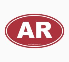 Arkansas AK  Euro Oval RED by USAswagg
