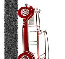 Red Car Vintage by Nhan Ngo