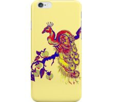 Peacock in a Peach Tree (Remix) iPhone Case/Skin