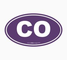 Colorado CO Euro Oval PURPLE by USAswagg