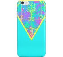 inverted cold neon triangle iPhone Case/Skin