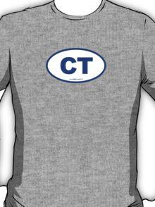 Connecticut CT Euro Oval BLUE T-Shirt