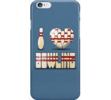 I love bowling - pins iPhone Case/Skin