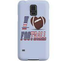 I love football Samsung Galaxy Case/Skin