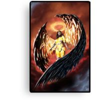 Robot Angel Painting 001 Canvas Print
