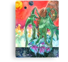 Some Space for the Staghorn Fern and Rex Begonia Canvas Print