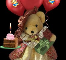 ㋡ HAPPY BIRTHDAY TEDDY BEAR BEARING GIFTS CARD/PICTURE  ㋡ by ╰⊰✿ℒᵒᶹᵉ Bonita✿⊱╮ Lalonde✿⊱╮