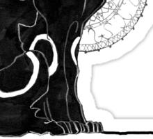 umbreon blanc et noir Sticker