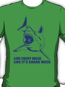 LIVE EVERY WEEK LIKE SHARK WEEK FUNNY SUPER SOFT TSHIRT 30 ROCK TEE EARTH NBC T-Shirt