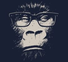 Hipster Gorilla With Glasses by TheShirtYurt