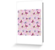 Сгеу floral and butterflies pattern.Doodles Greeting Card