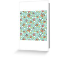 Fun spattern with butterflies,sun, clouds in Doodles Greeting Card