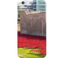 Ceramic poppies at the Tower of London iPhone Case/Skin