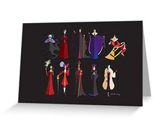 THE VILLAINS Greeting Card