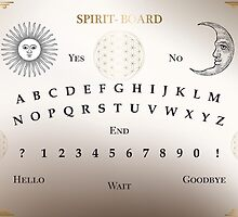 Ouija Board, Spirit Board, Witchcraft, Magic by popart-mania