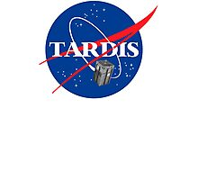 Tardis NASA T Shirt Parody Dr Dalek Who Doctor Space Time BBC Tenth Police Box Photographic Print