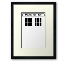 THE BLUE BOX T Shirt Doctor Doc Dalek BBC Bow Tie TV Tenth Eleventh Who Police Framed Print