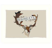 Deerly Art Print
