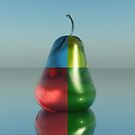 four colour glass pear by Moonlake