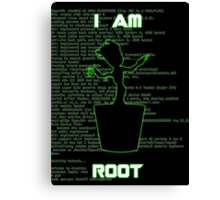 I AM ROOT (simple version) Canvas Print