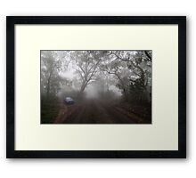 The Foggy Road to Anvil Rock Lookout Framed Print