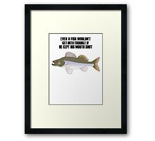 Big Fish Candat Animal Framed Print
