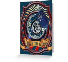 The Twelfth Doctor - Lords Of Time And Space Greeting Card