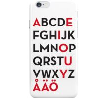 Swedish alphabet iPhone Case/Skin