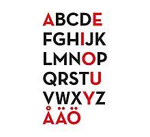 Swedish alphabet Photographic Print