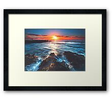 Thus The Light Fades Gently Framed Print