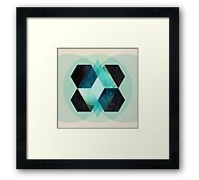 Galaxy Hex Framed Print