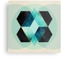 Galaxy Hex Metal Print