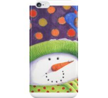 Cute Christmas snowman  iPhone Case/Skin