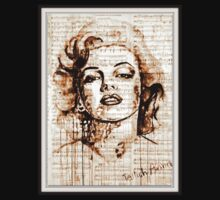 old book drawing marilyn monroe Kids Clothes