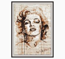 old book drawing marilyn monroe by #Palluch #Art