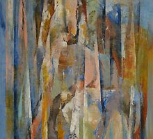 Wild Horses Abstract by Michael Creese